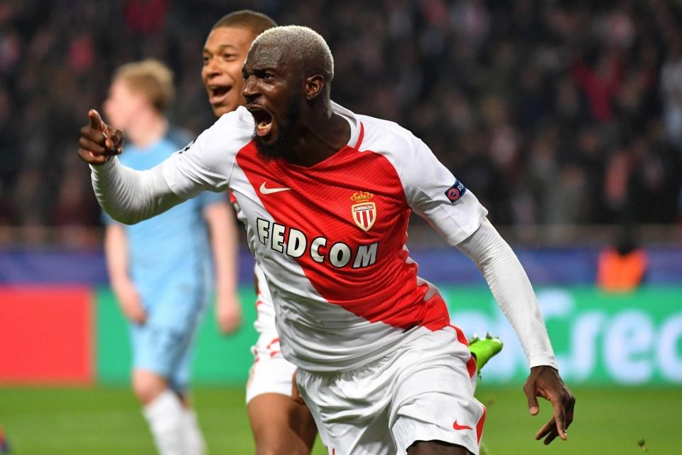 Bakayoko celebrates scoring against Man City last season