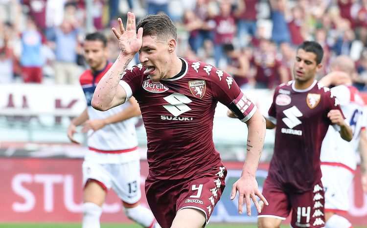 Is it a shark? Is it a plane? No, it's Andrea Belotti