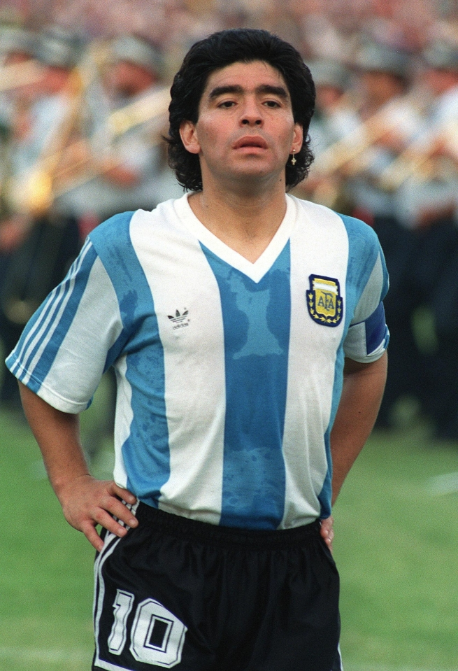 Diego Maradona was a small and stocky player with sublime skill and courage