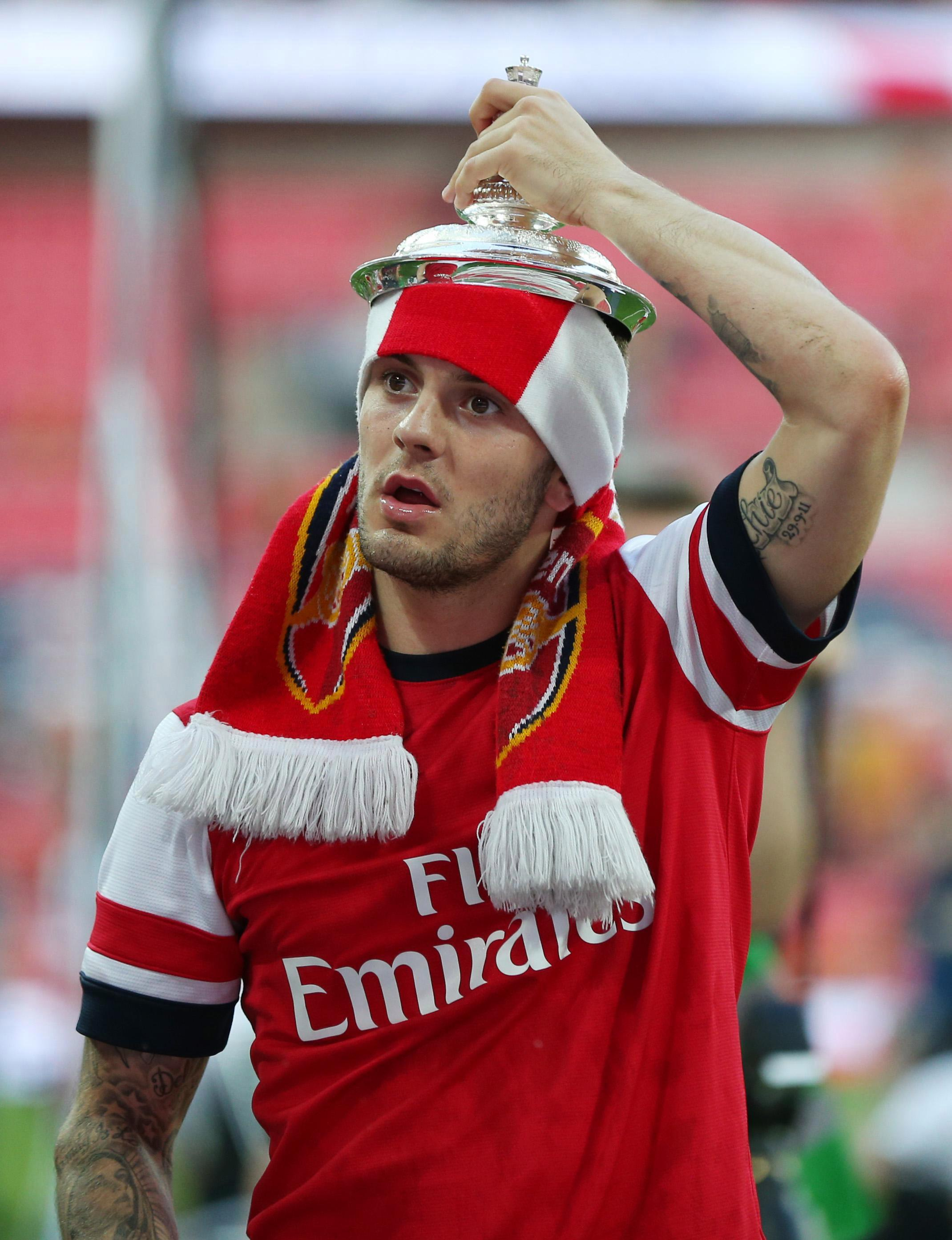 Jack Wilshere has been with the Gunners since he joined the academy in 2001