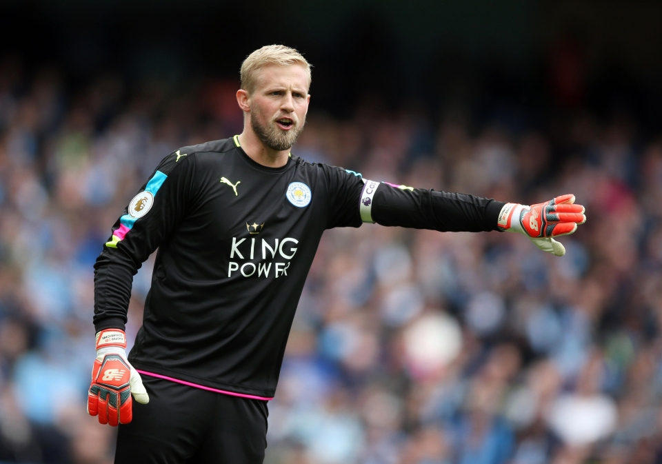 Kasper Schmeichel was one of a host of City youth graduates to feature elsewhere