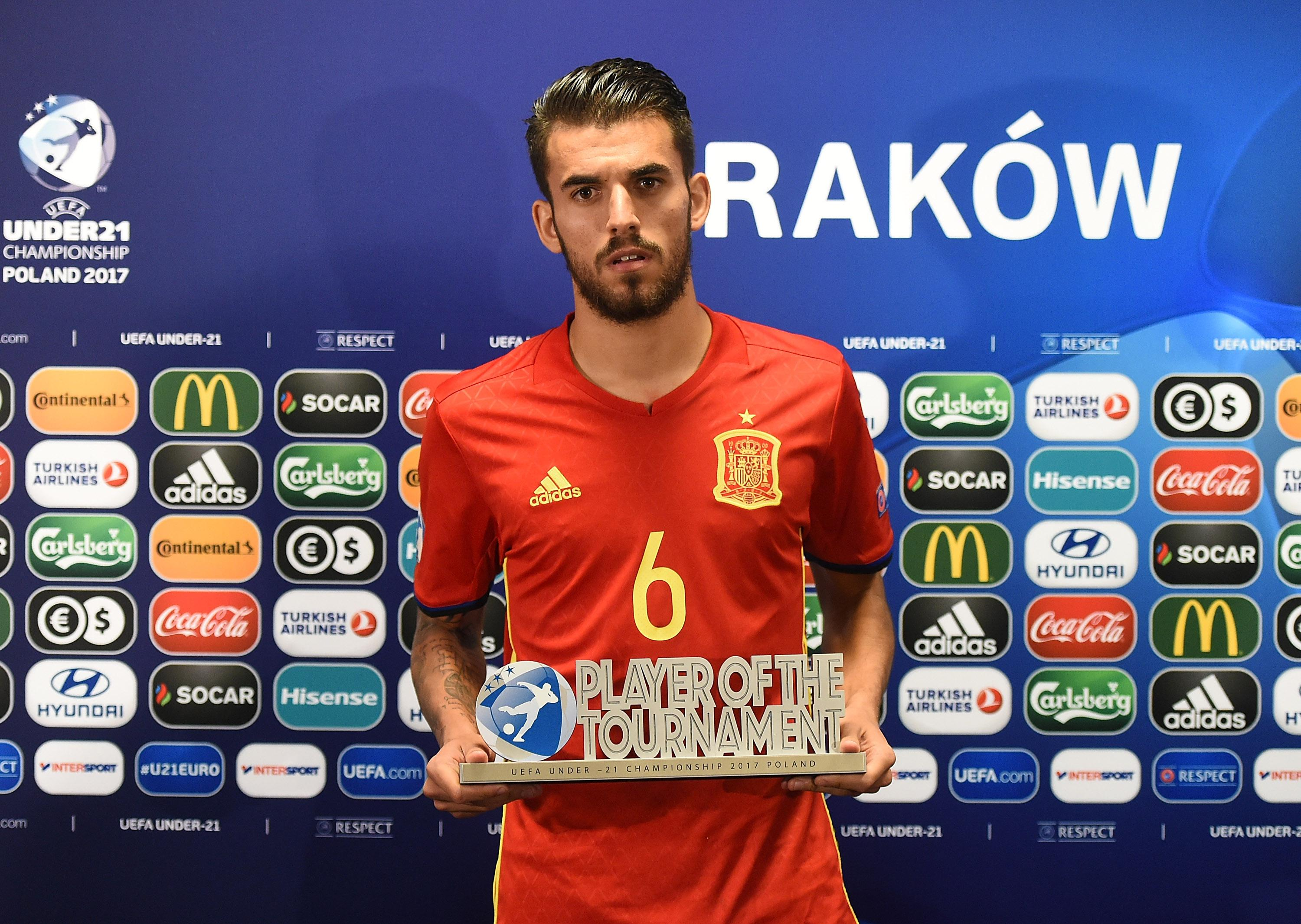 Ceballos looks 'delighted' to win Player of the Tournament after Spain's defeat to Germany