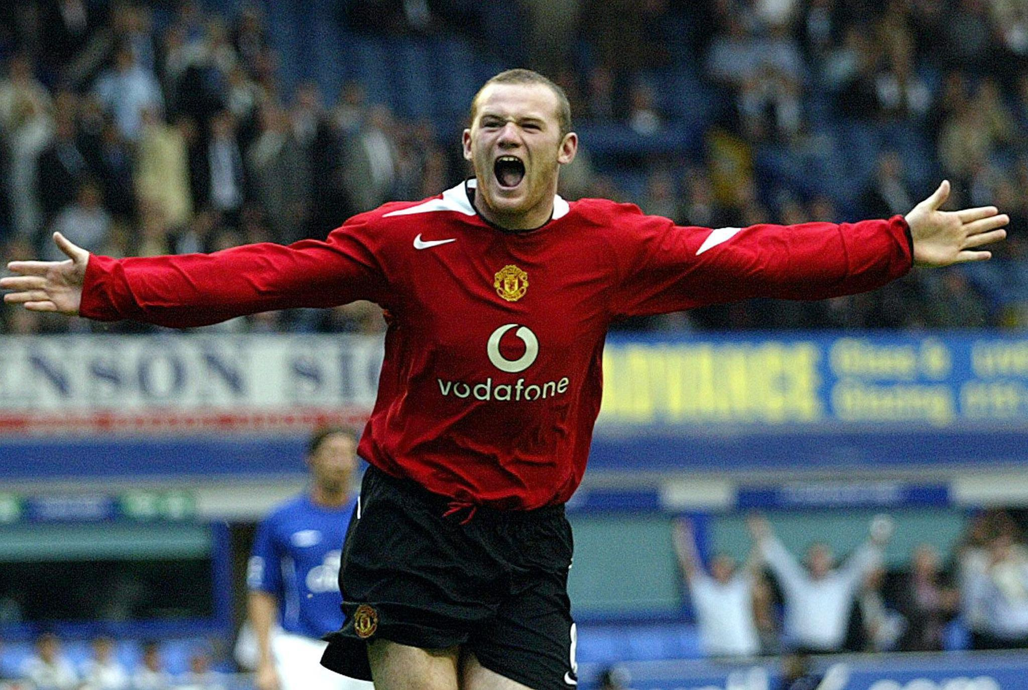 Wayne Rooney joined Manchester United from Everton in summer of 2004
