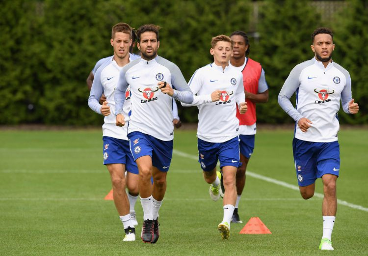 The walking race is fiercely competitive in Chelsea training