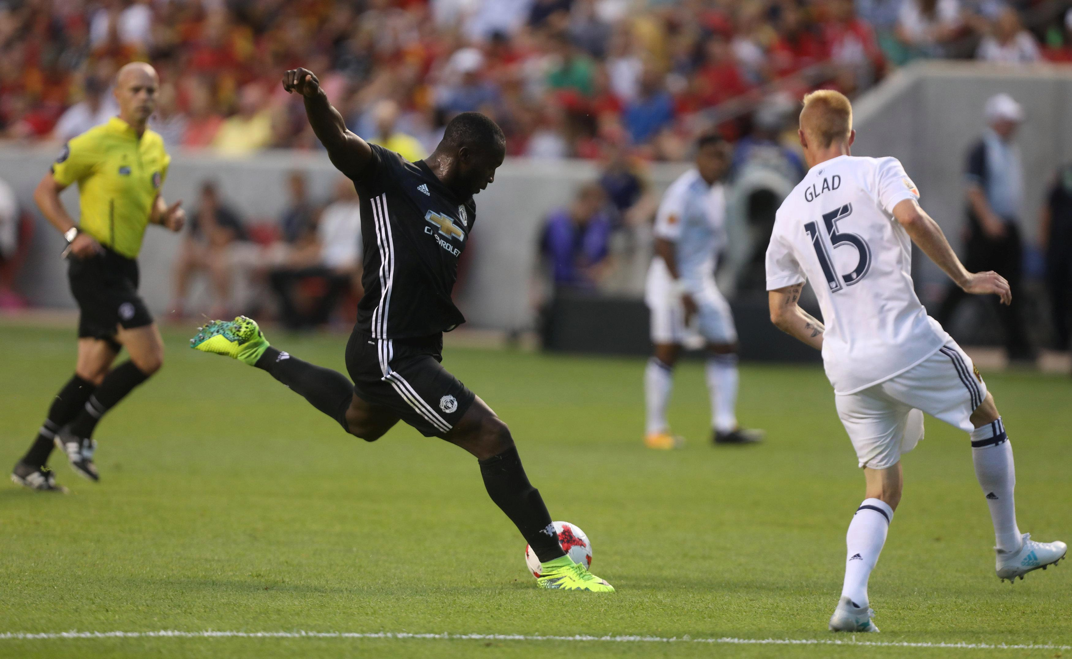 Romelu Lukaku scored his first United goal in the friendly victory over Real Salt Lake