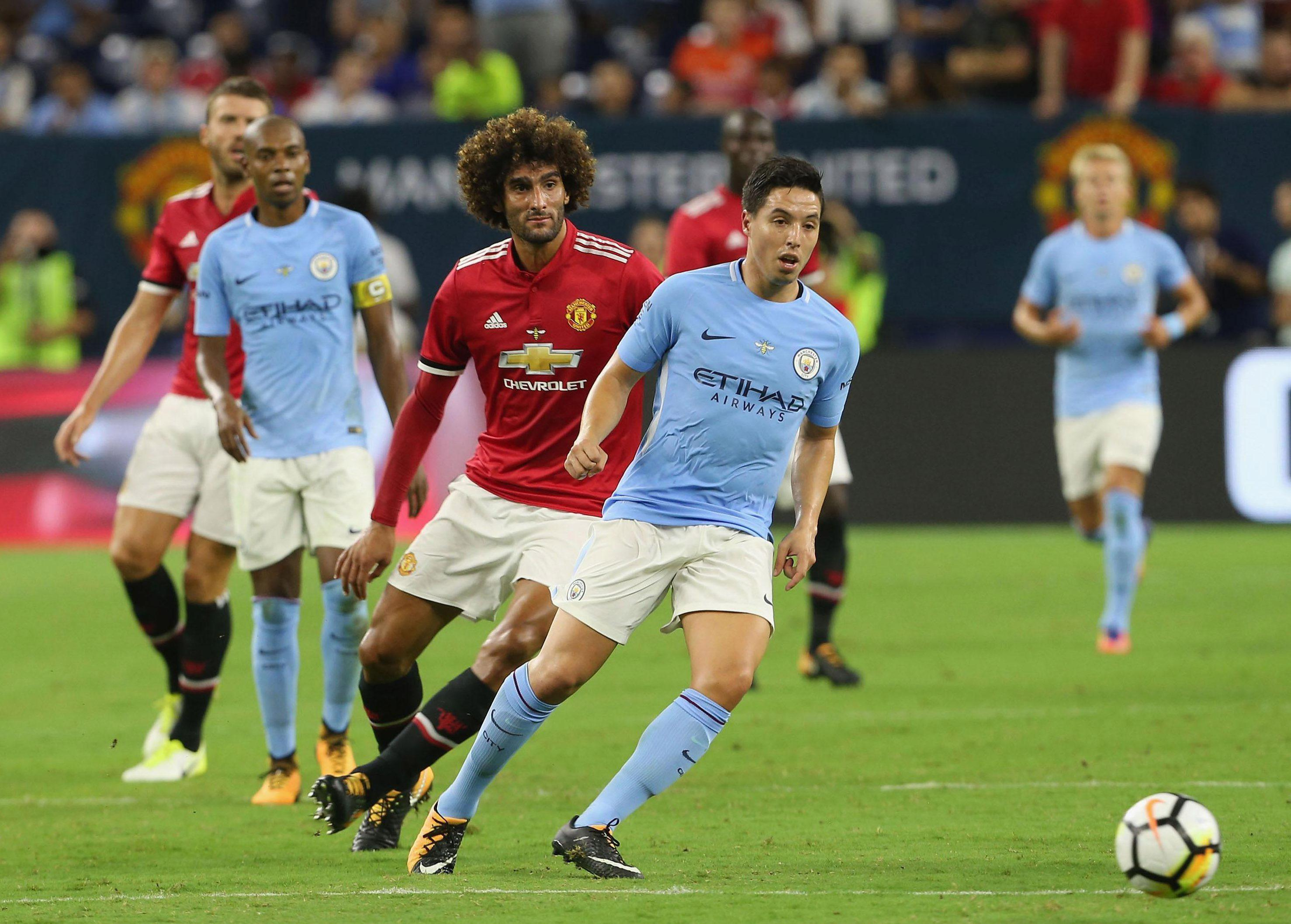Samir Nasri has still featured for City on the trip despite the club looking to sell him