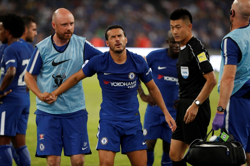 Pedro was in major discomfort and was replaced by Jeremie Boga