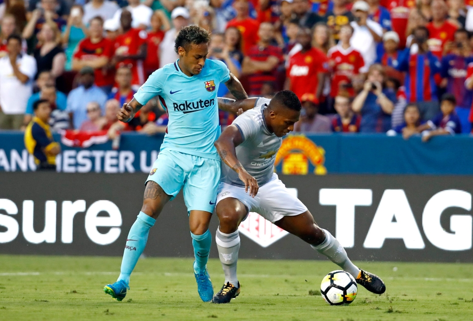 Valencia lost his footing to hand Neymar the chance