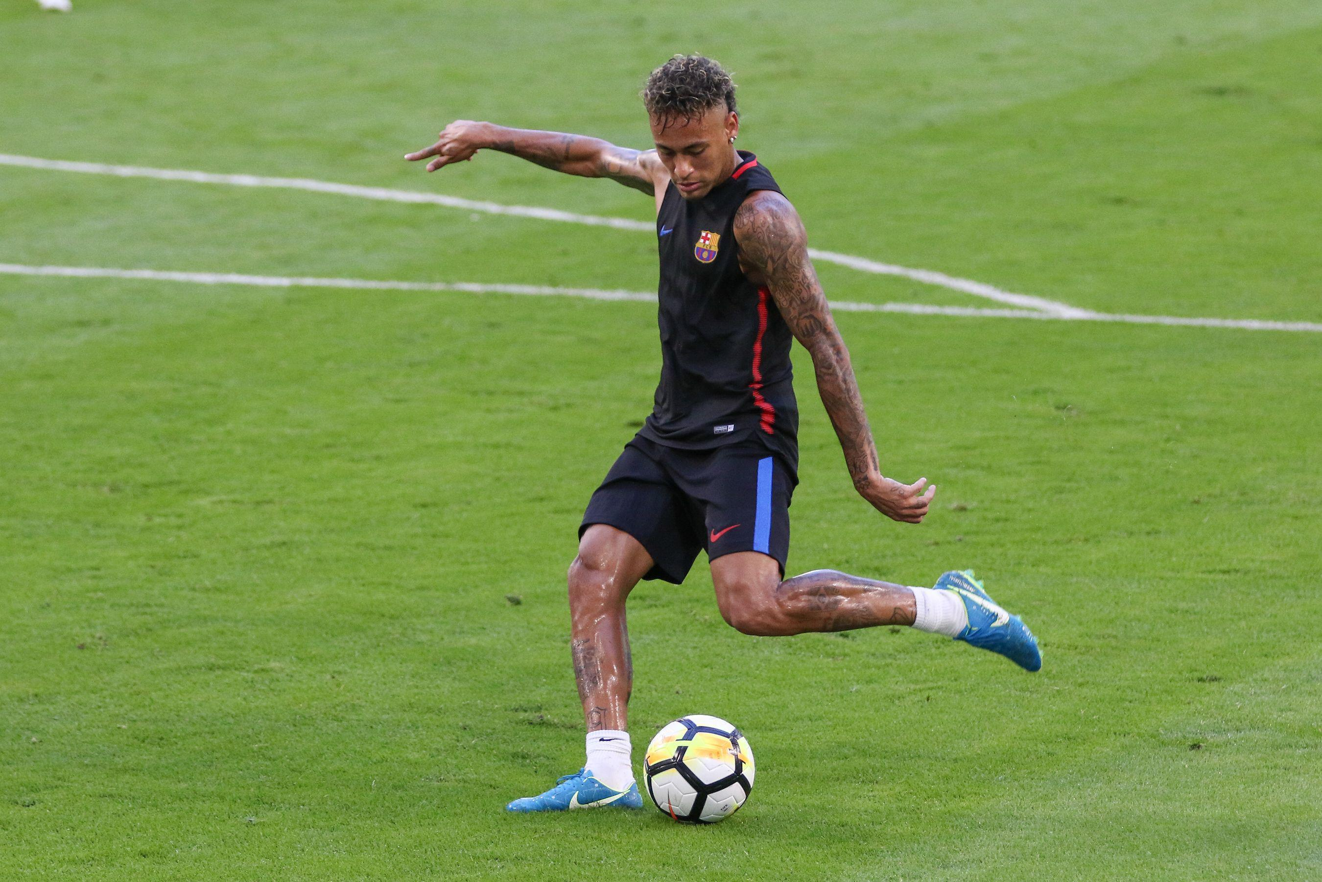 Neymar stormed out of Barcelona training on Friday after a bust-up with Nelson Semedo