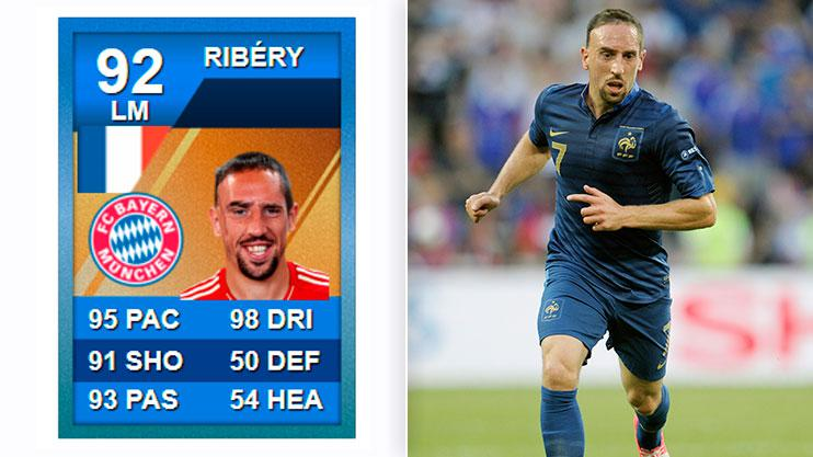 Blue card Ribery was something else on FIFA 12