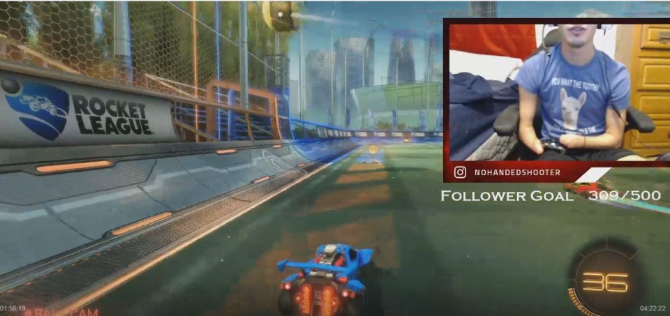 Hunter's very good at Rocket League too – an eSports game that requires pinpoint precision and lightning quick reflexes