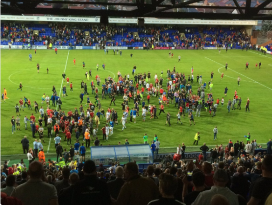 Liverpool Fans Invade The Pitch After Pre Season Friendly