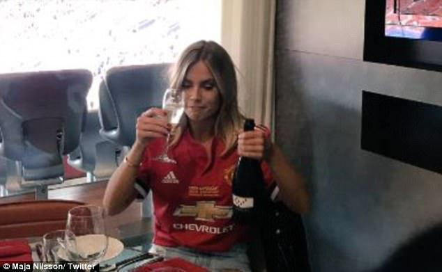 Lindelof watched the game with his fiancee in a box… fair enough
