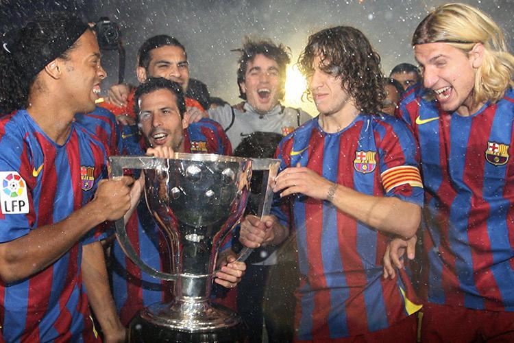 Barcelona greats (and Maxi Lopez)