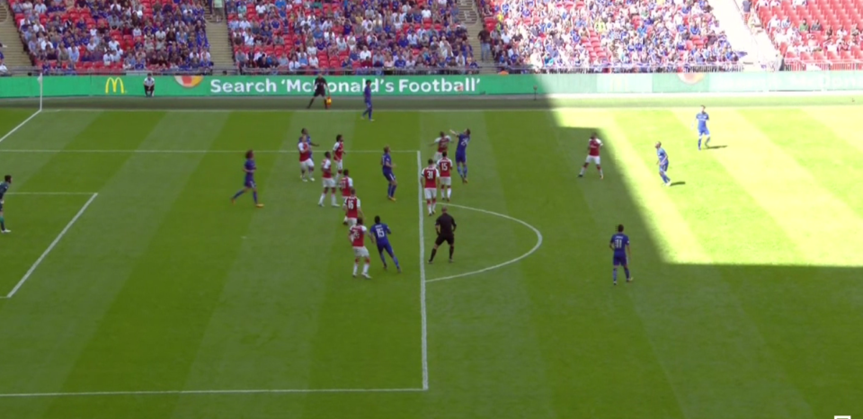 Bellerin allows Moses to drift in front of him