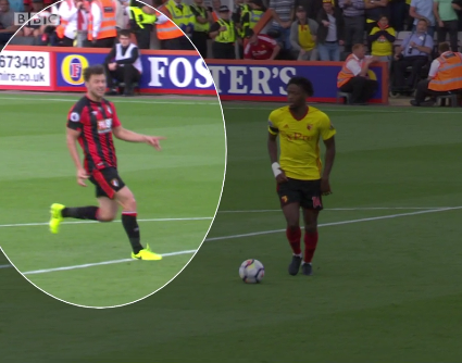But sneaky Harry Arter is stood behind him and calls for him to 'leave it'
