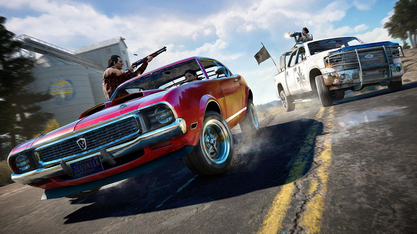 Car chases, guns and lots of violence - Far Cry 5 has them in all in spades