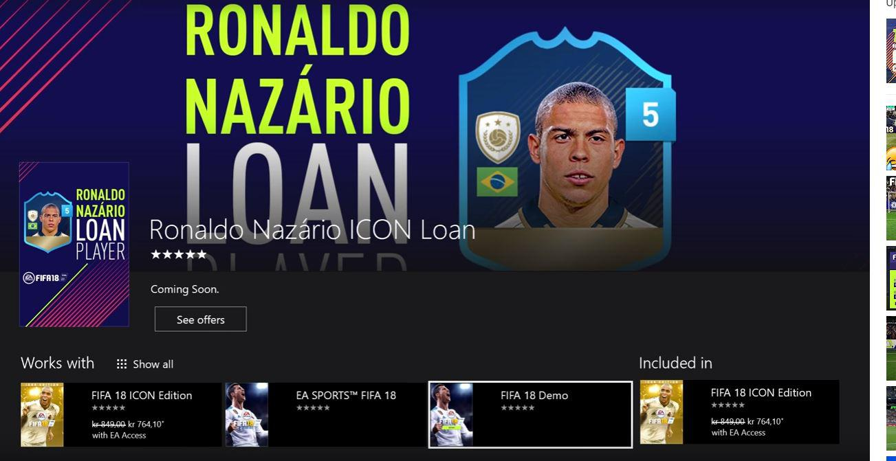 The demo can be clearly seen under the Ronaldo Nazario loan tab
