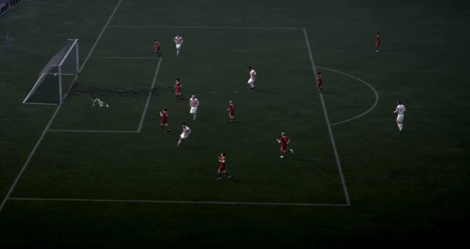 Footage has emerged showing a team of kids playing against a team of adults in the pitch featured in The Journey