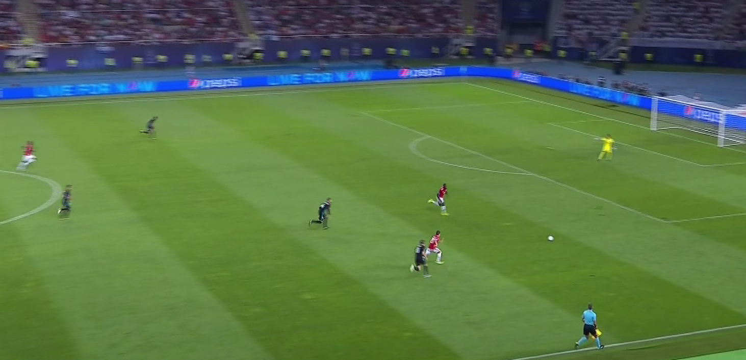 Onside Mkhitaryan had a clear run on goal