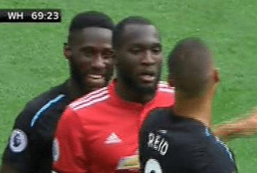 Masuaku was spotted chuckling away before Lukaku's second goal