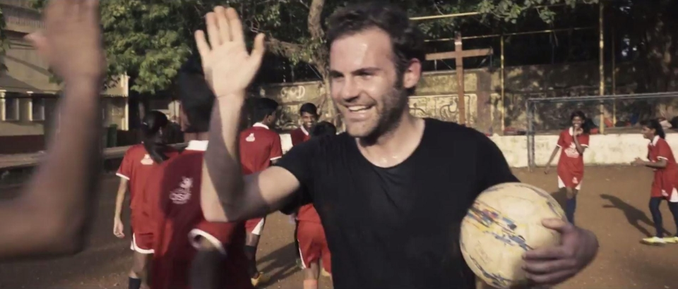 Juan Mata launched the charity event on a recent trip to India