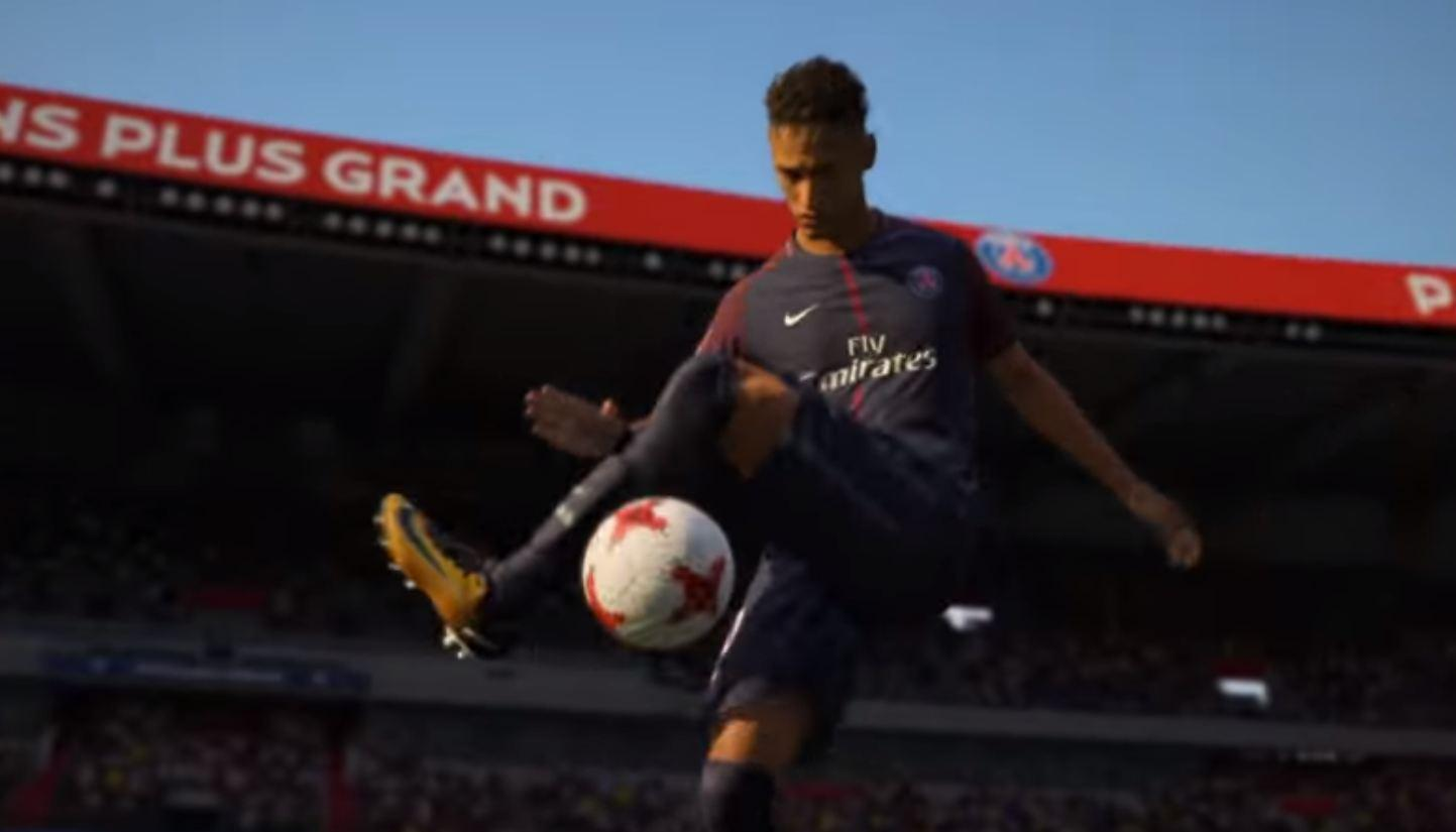 EA used the game to show footage of Neymar in his new PSG strip