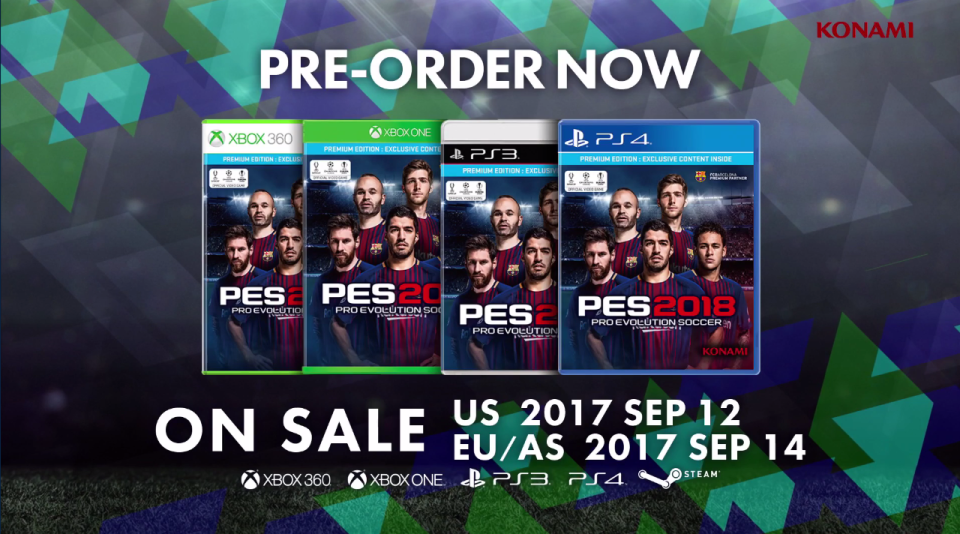 Neymar is embarrassingly still on the cover of PES 2018 in a Barcelona kit