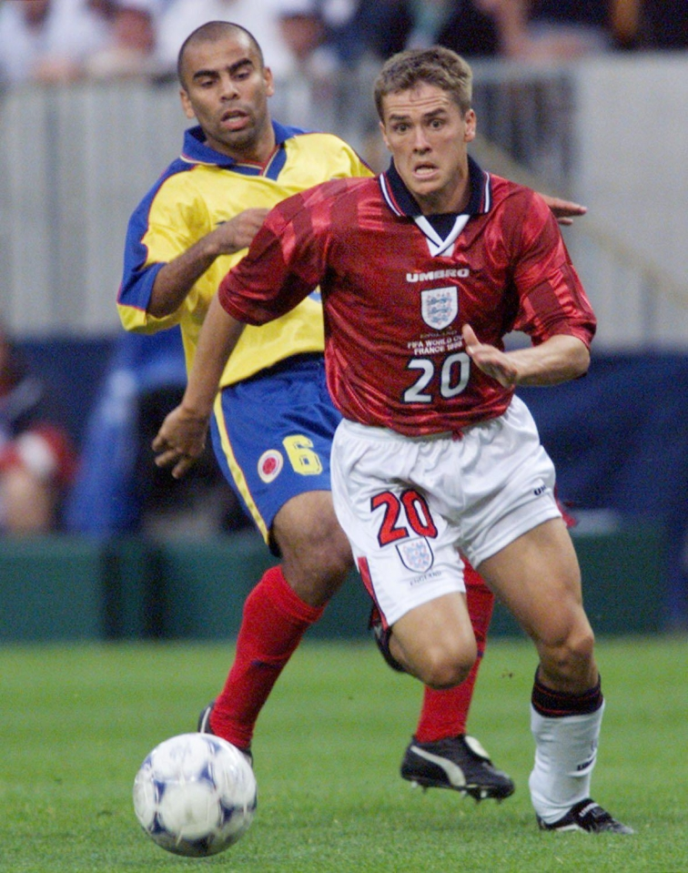 Michael Owen at the 1998 World Cup