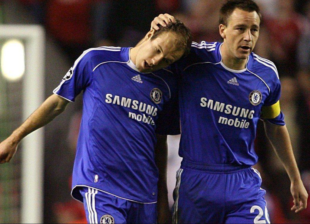 Arjen Robben and John Terry