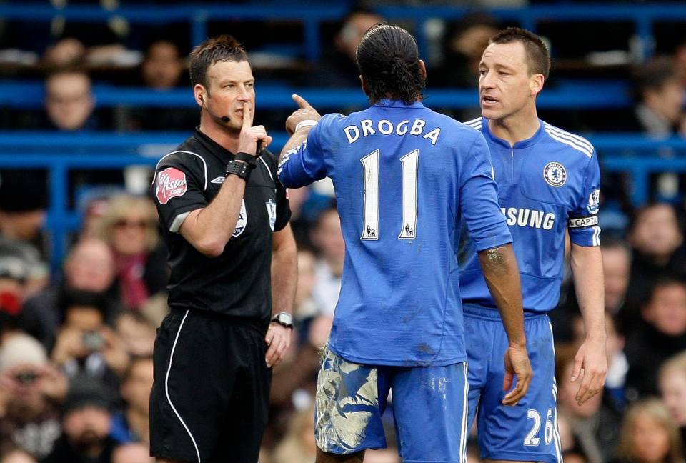 """Yellow card for having the wrong number, Didier!"""