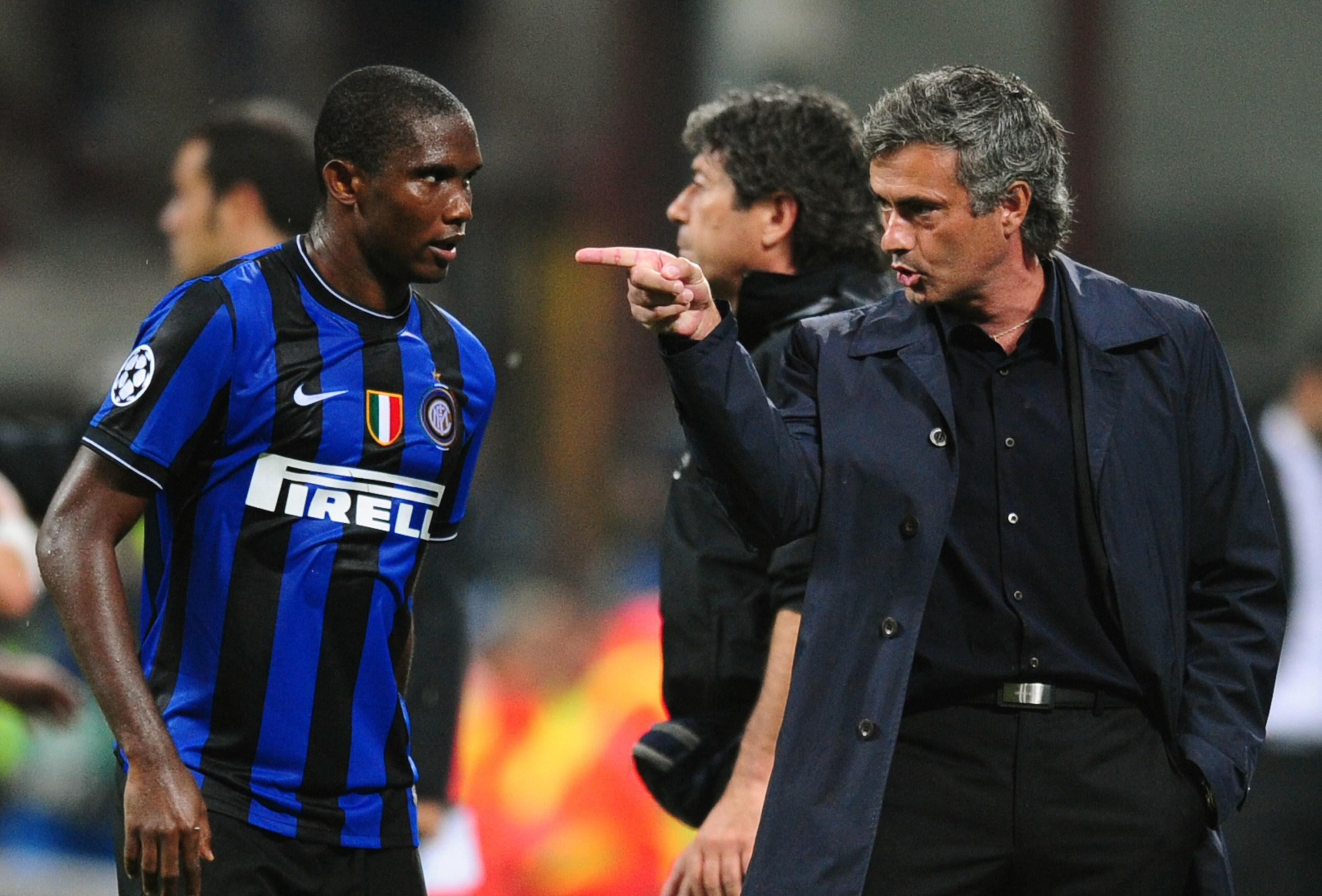 Eto'o in that Inter kit, though