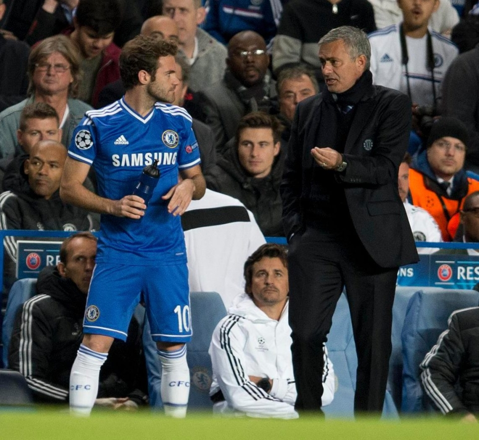 Mata found himself on the fringes at Chelsea under Mourinho