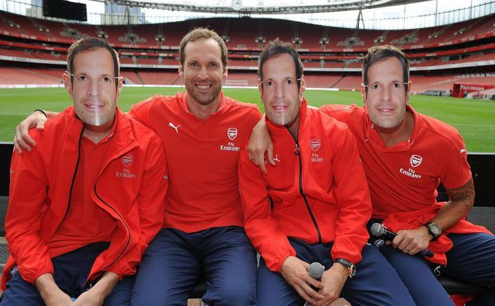 Arsenal really went all out to make Cech feel at home