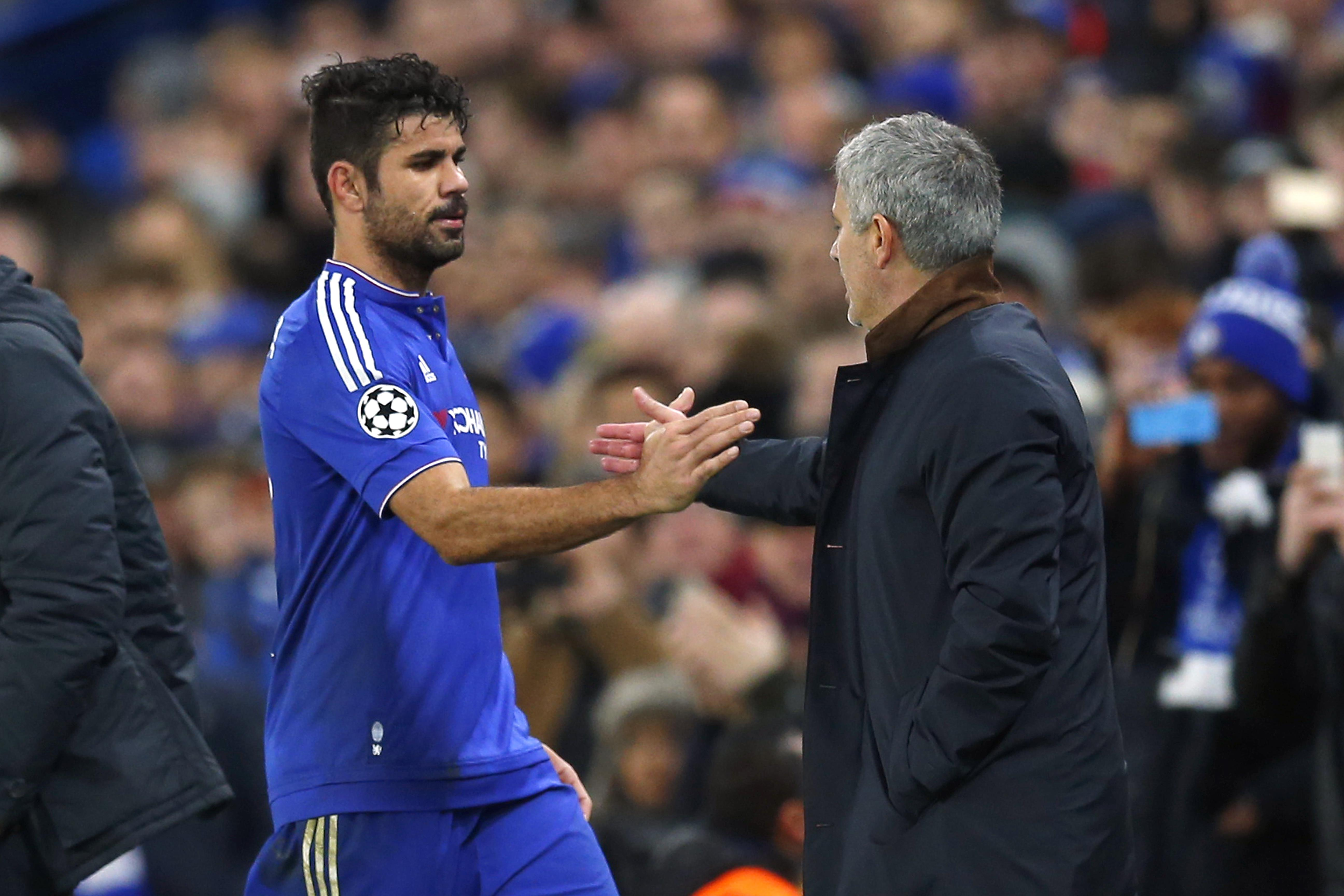 Costa maintains a good relationship with the former Chelsea boss