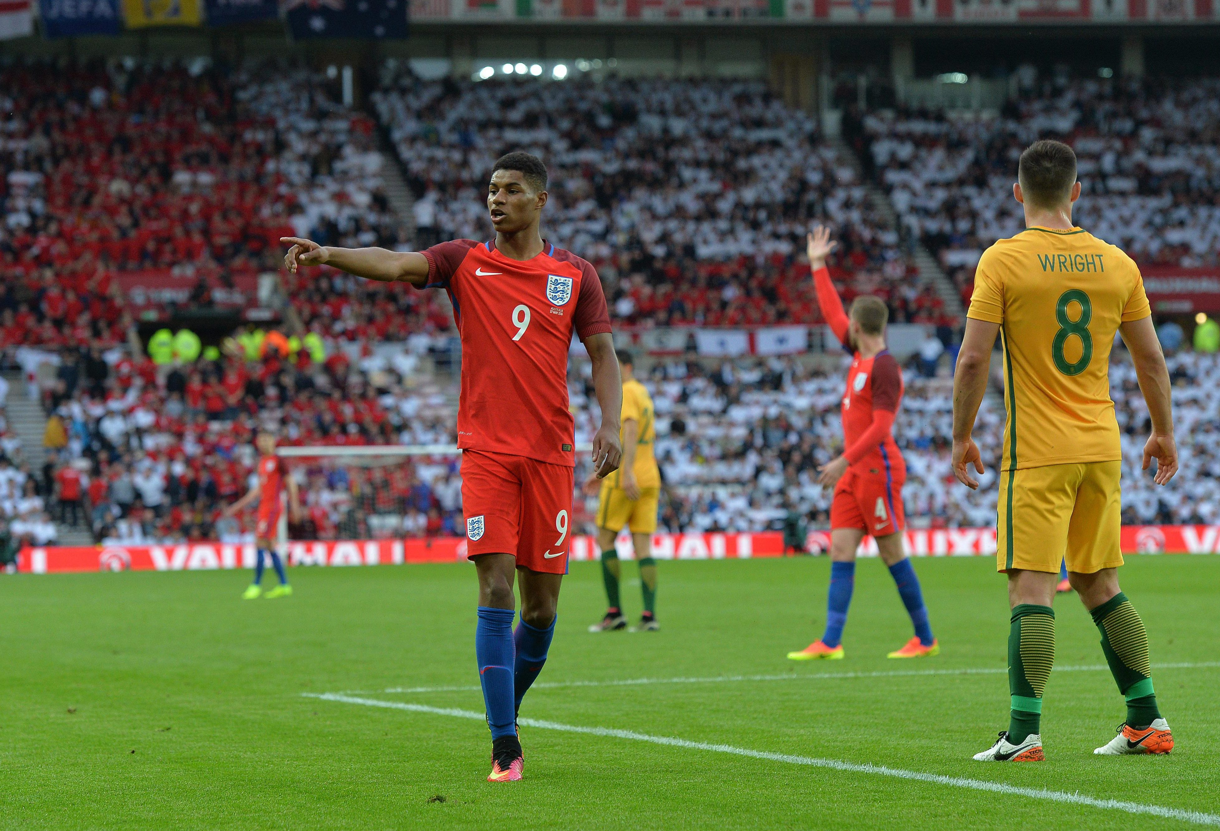 Rashford played his part in England regaining the football Ashes (not a real thing)