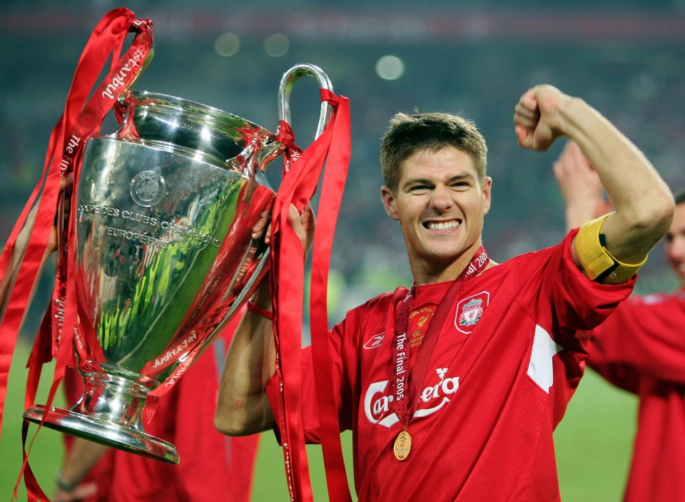 Steven Gerrard got to lift the European Cup after firing his side back into the final