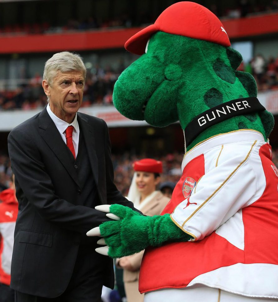 The Arsenal mascot has won favour with the boss