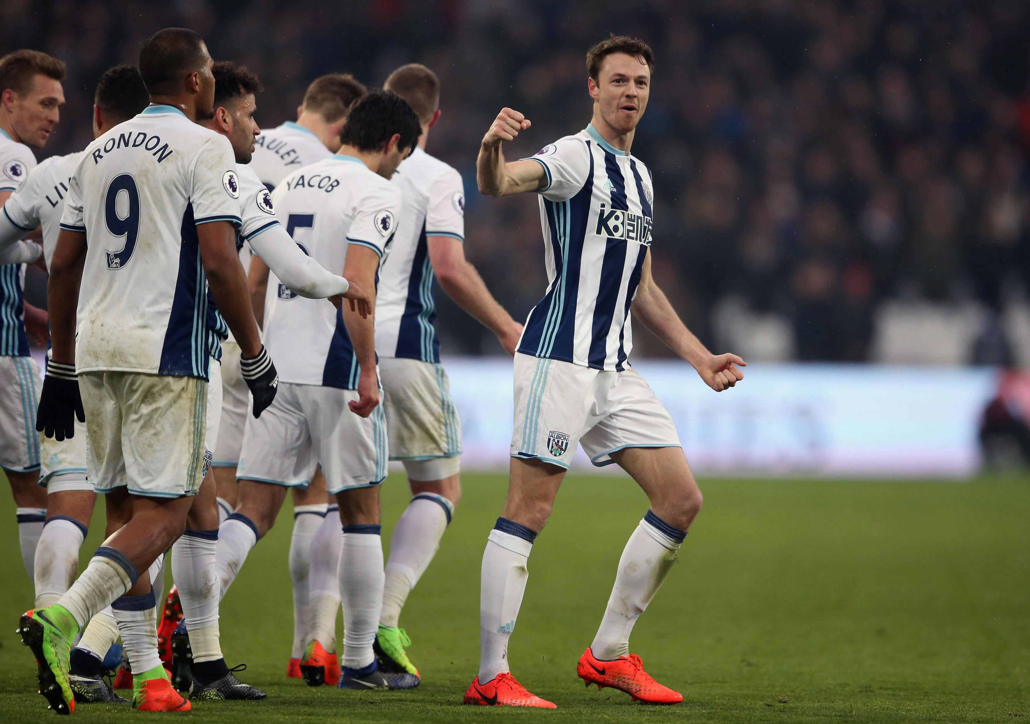 Jonny Evans is the leader of West Brom's rearguard