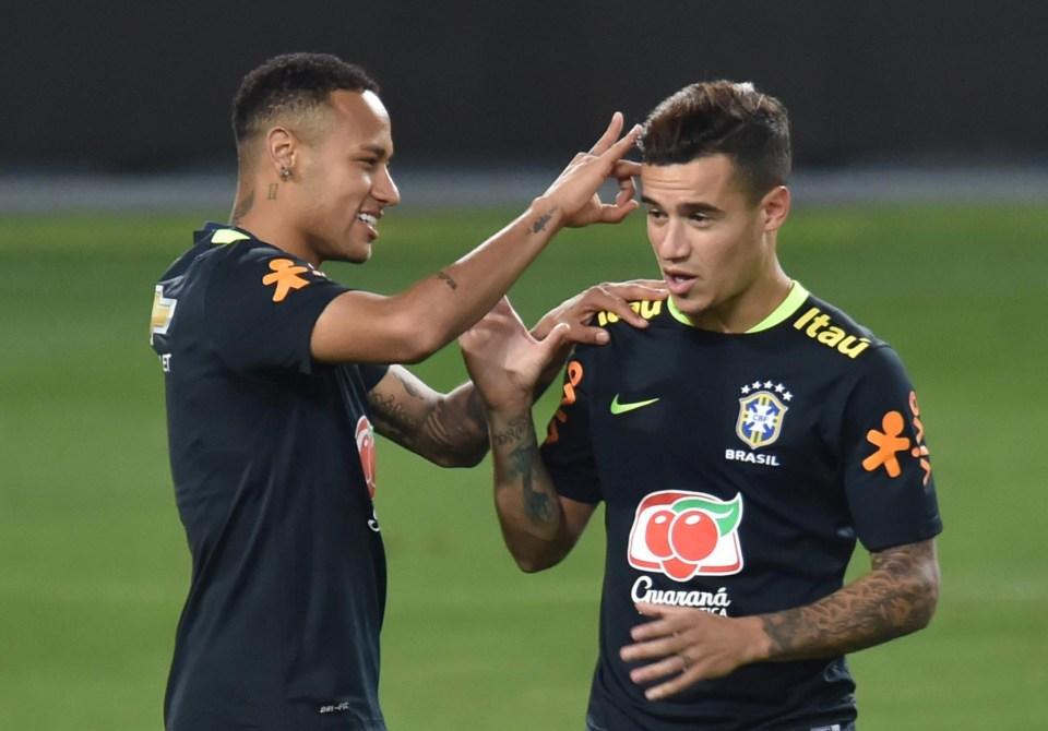 Neymar has urged Paris Saint-Germain to pursue deal for Philippe Coutinho