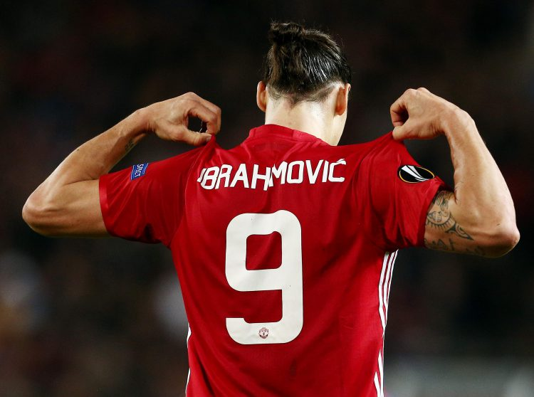various colors 1fb83 d4a3b Zlatan Ibrahimovic's new Man United squad number reportedly ...