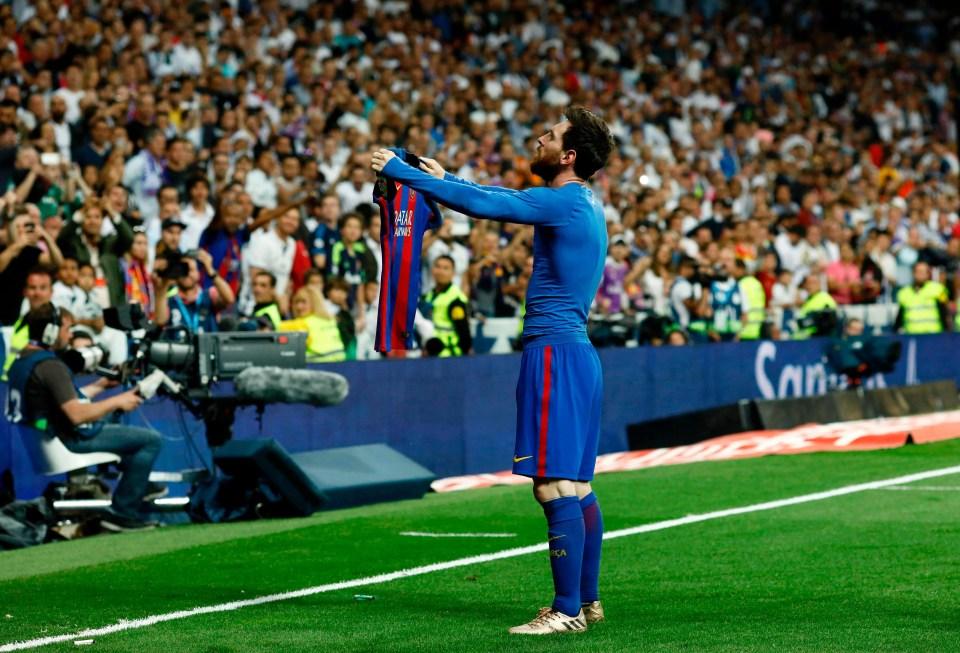 Messi's iconic celebration