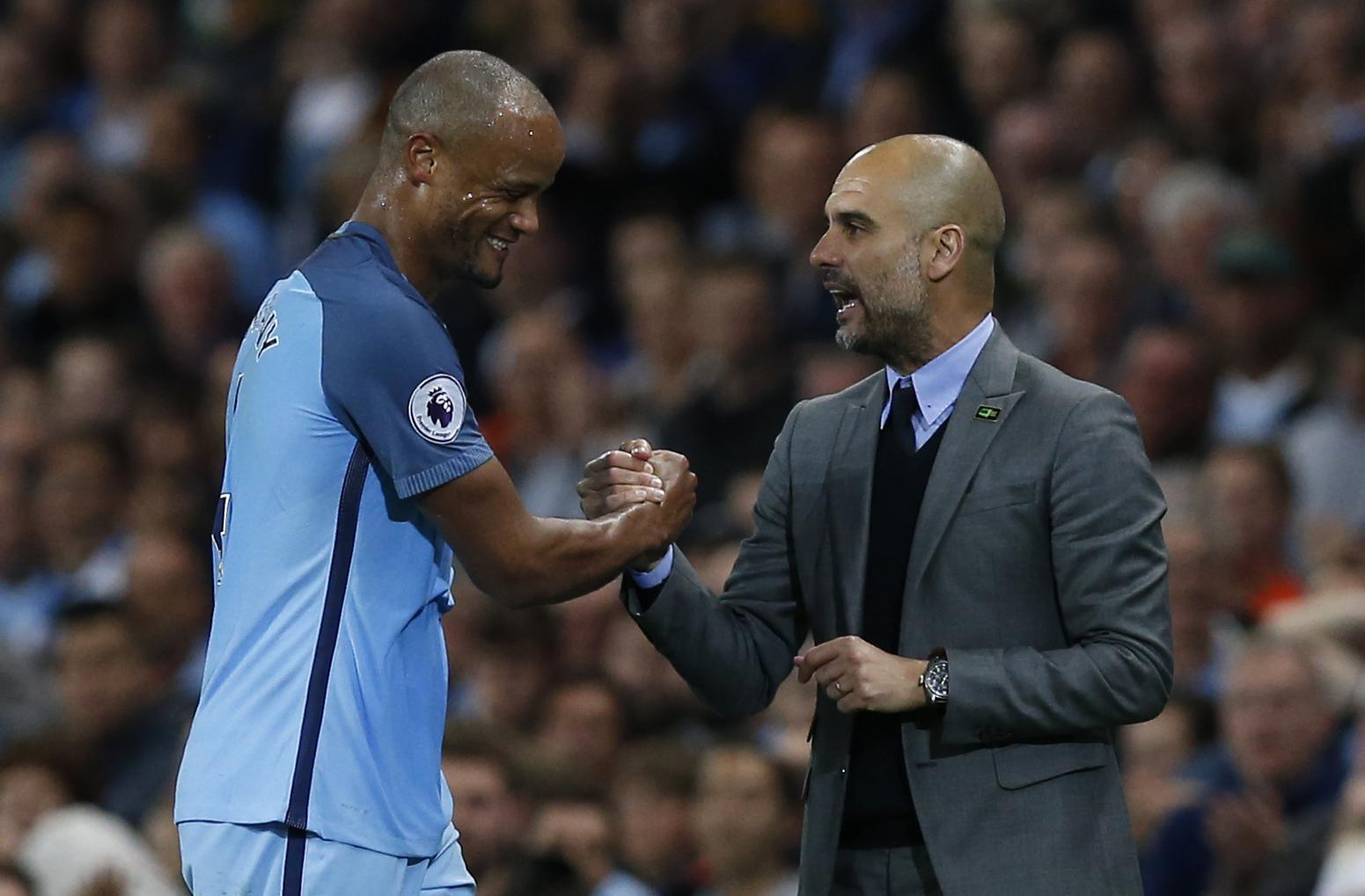 Guardiola is concerned with Kompany's injury problems