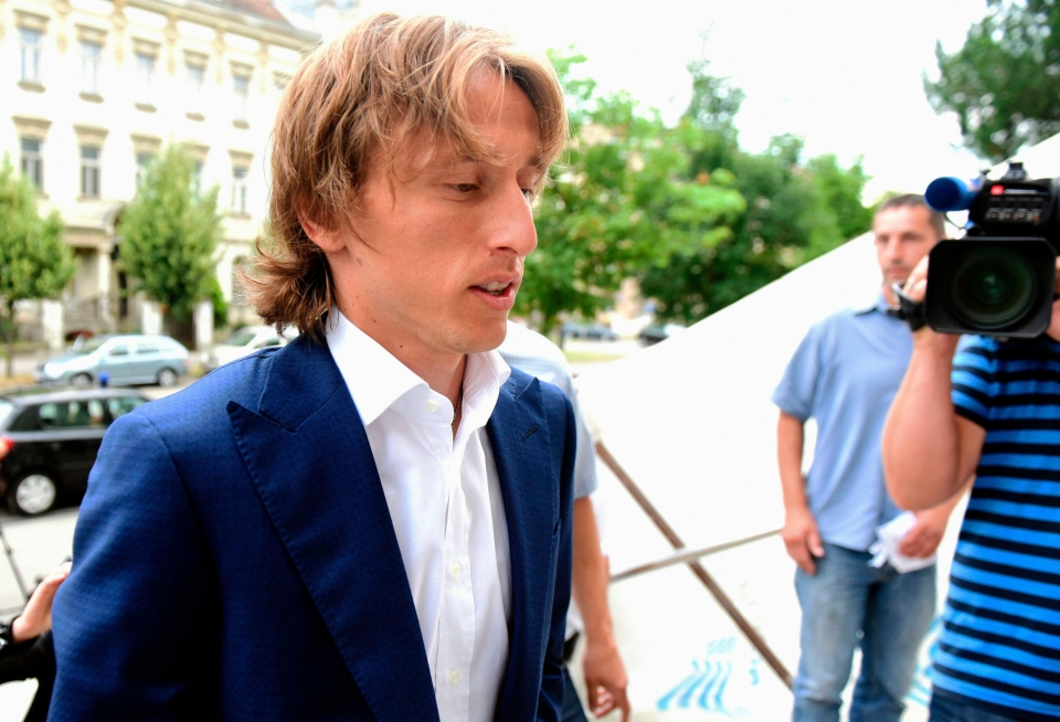 Luka Modric arrives to court to give evidence in Zdravko Mamic's trial