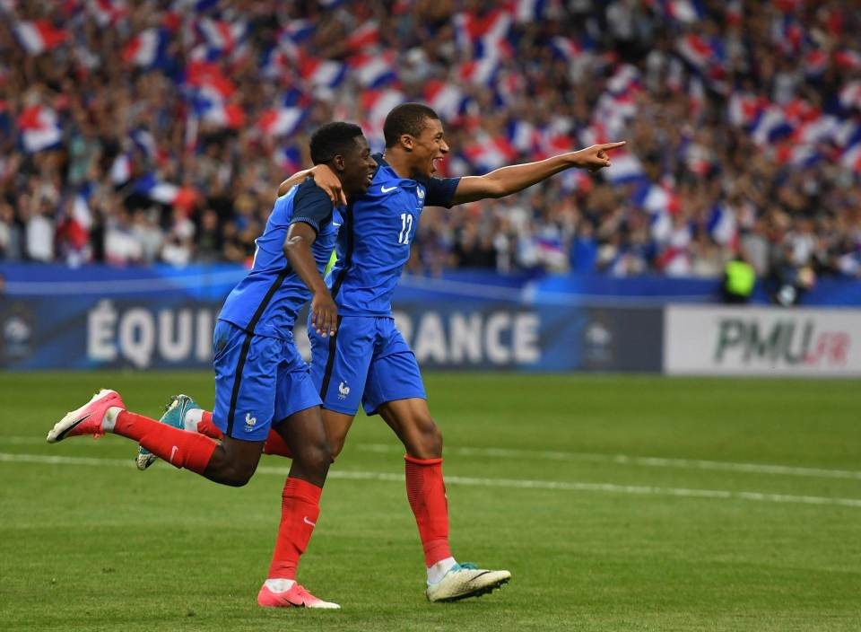 Dembele scored the winner for France in a 3-2 friendly win over England last year