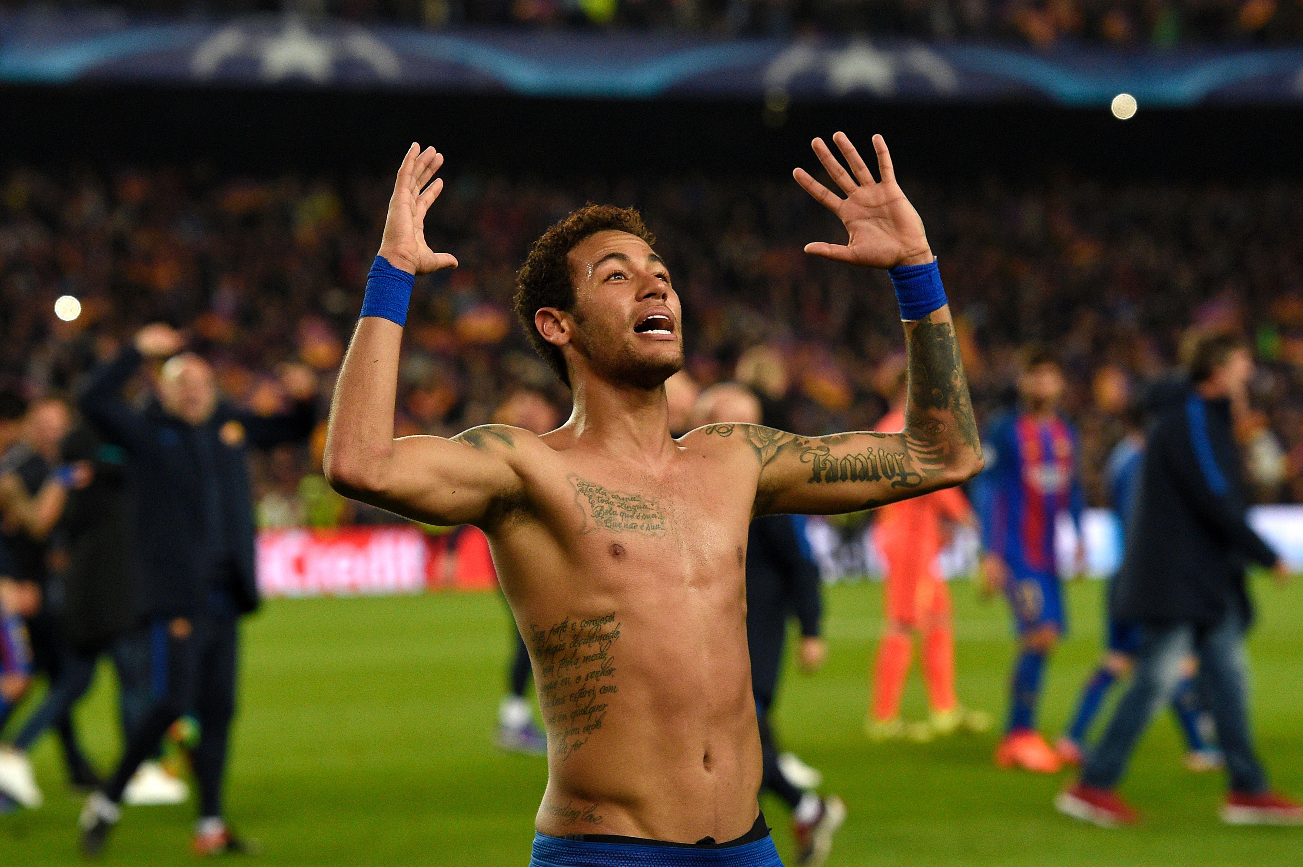Neymar played like a man possessed