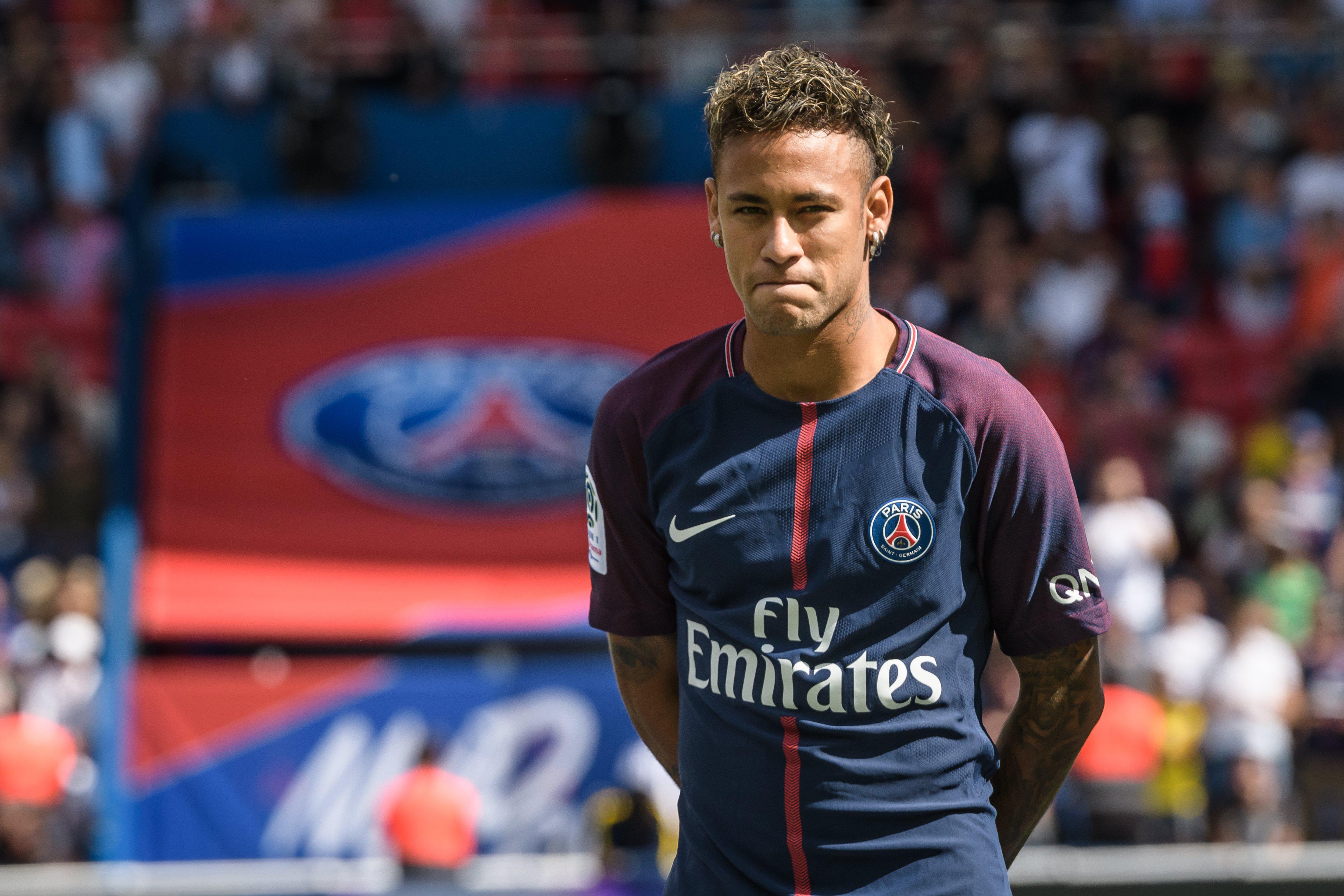 Neymar joined PSG last week for £198million