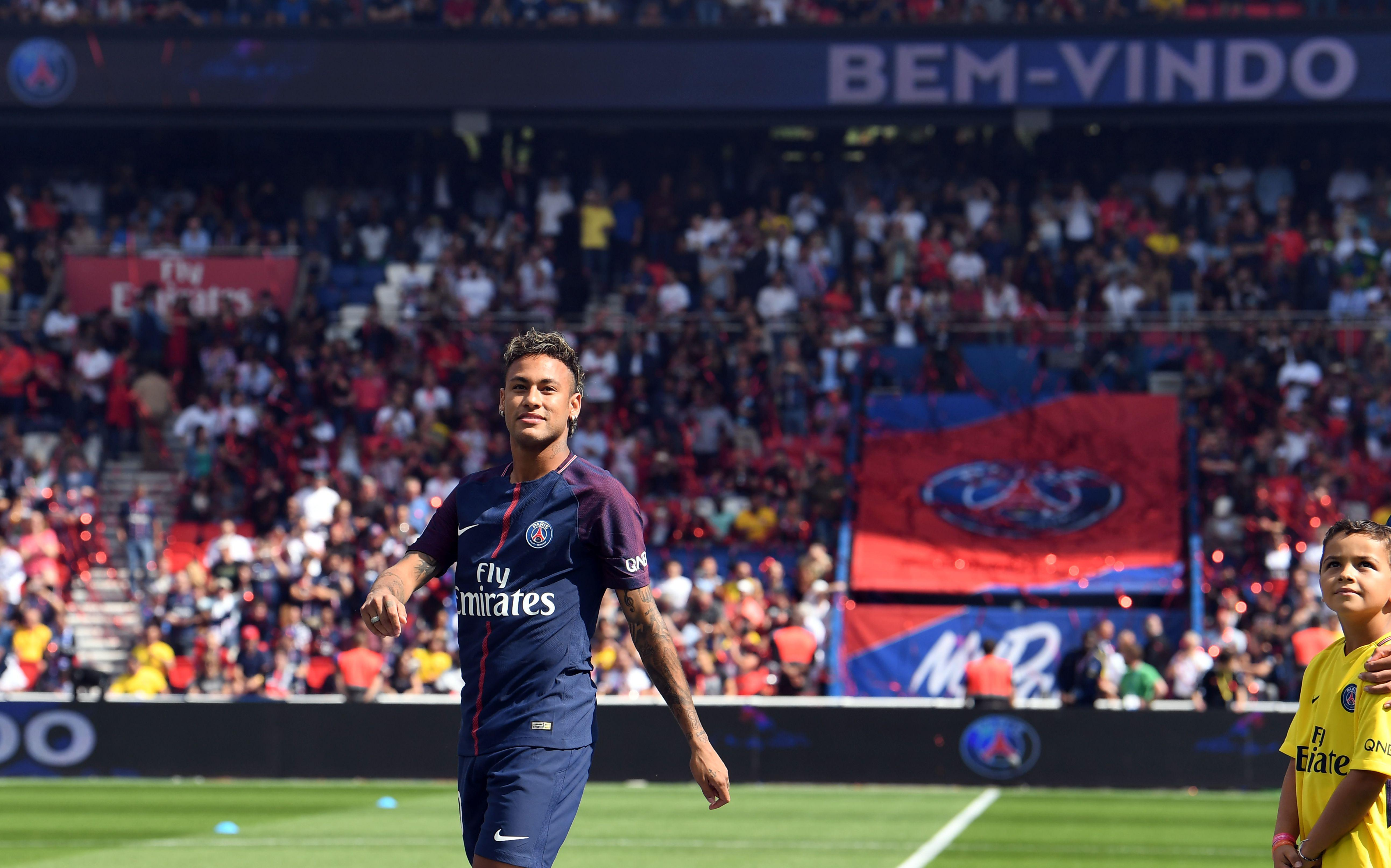 Neymar was unveiled to PSG fans last week after joining for a record 222 million euros