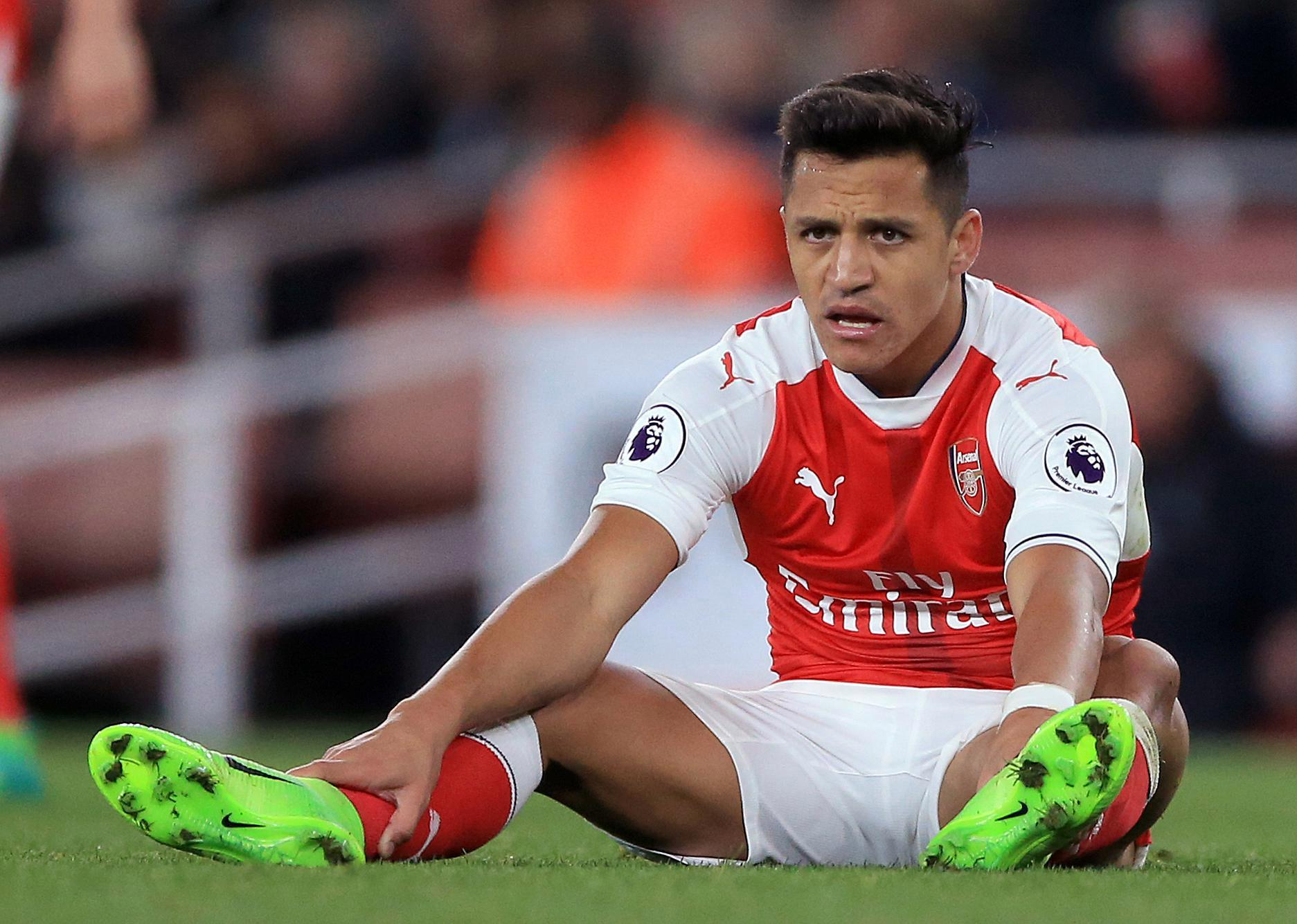 Sanchez missed Arsenal's win over Leicester on Friday