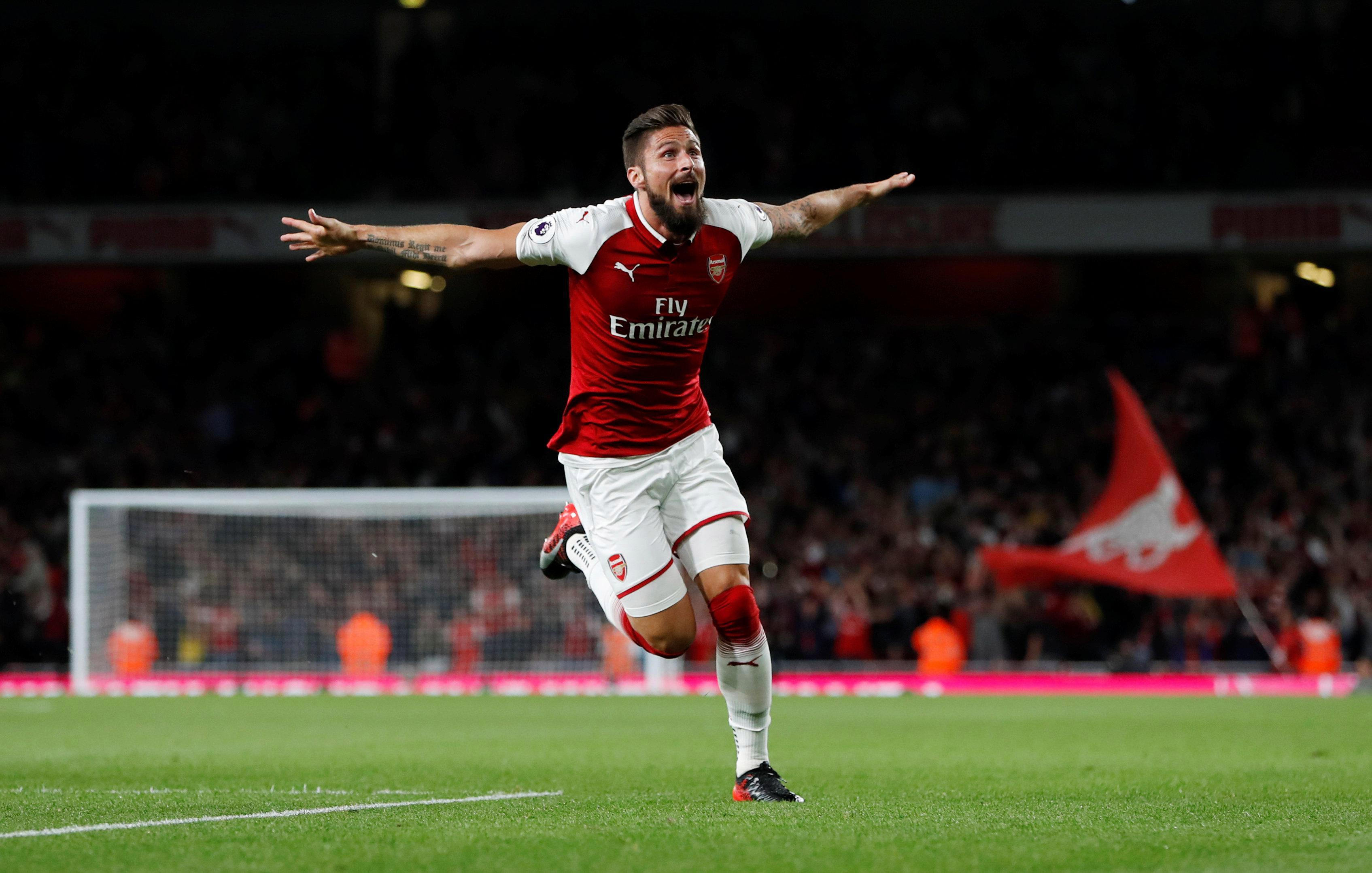 Olivier Giroud secured a stunning late winner for Arsenal against Leicester